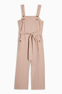 Topshop Pinafore Button Jumpsuit in Blush ~ pink summer all-in-one