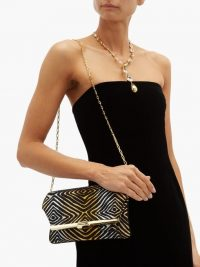BIENEN-DAVIS PM Hypnotique metallic-brocade folded clutch ~ glamorous vintage style evening bags