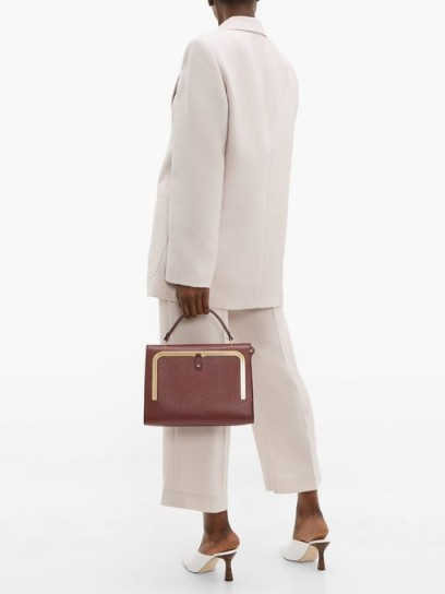 ANYA HINDMARCH Postbox burgundy-leather bag ~ bags with style