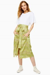 Topshop Boutique Printed Apron Skirt | luxe tie waist skirts