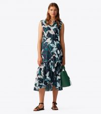 TORY BURCH PRINTED WRAP DRESS in Desert Bloom Pigment ~ ruffle trimmed dresses
