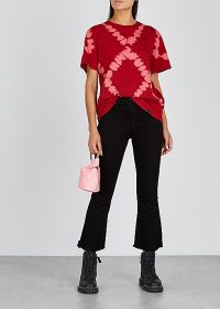 PROENZA SCHOULER Red cotton tie-dye T-shirt