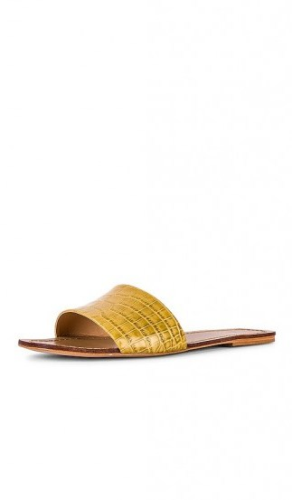 RAYE Houston Sandal in Yellow - flipped