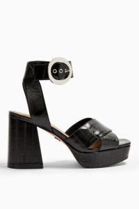 Topshop REGGIE Platform Sandals in Black | retro platforms