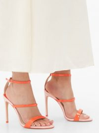 SOPHIA WEBSTER Rosalind patent-leather sandals ~ pink and red strappy heels