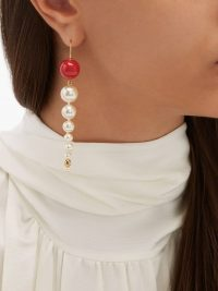 AURÉLIE BIDERMANN Roudoudou 18kt gold-plated pearl drop earrings ~ eye-catching drops