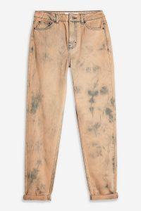 Topshop Rust Tie Dye Mom Jeans