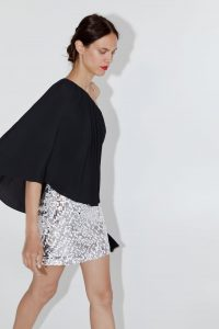 ZARA SEQUINNED MINISKIRT SILVER – metallic mini skirts