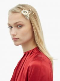 ROSANTICA BY MICHELA PANERO Set of three faux-pearl daisy hair slides | floral slides