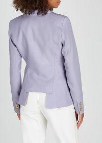 SMYTHE Duchess lilac wool blazer ~ cut-out back jacket
