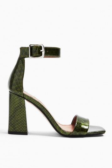 TOPSHOP SUKI Green Two Part Sandals
