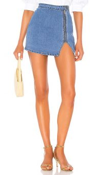 superdown Cara Denim Skirt Medium Blue Wash