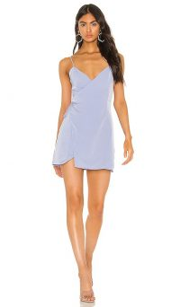 superdown Luca Wrap Front Dress Light Blue