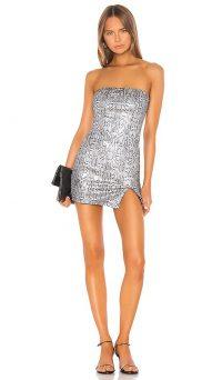 superdown Naomi Mini Dress Silver Snake