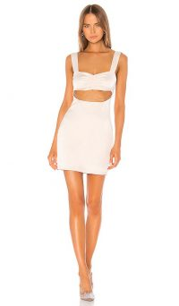 superdown Rina Cut Out Dress in Champagne