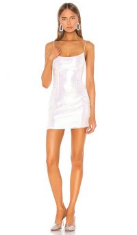 superdown Rosalind Mini Dress Opal. IRIDESCENT DRESSES