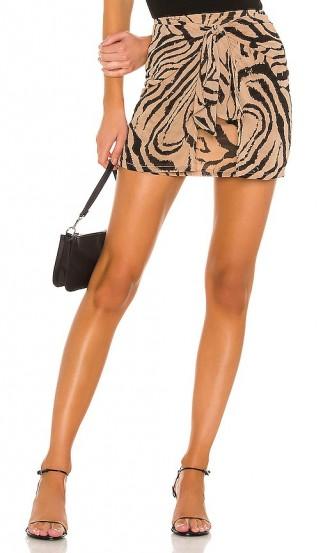 superdown Deb Mini Skirt Brown Multi. ANIMAL PRINT MINI