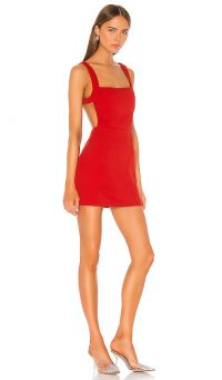 superdown Suzie Open Back Dress in Red