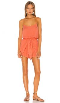 TAVIK Swimwear Louise Romper Hot Coral | essential summer holiday beachwear