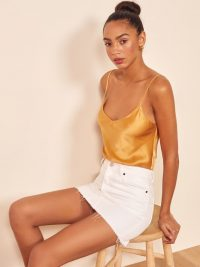 Reformation Teddy Top Ochre | cami | camisole