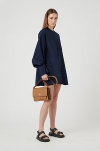 CAMILLA AND MARC ELISE NAVY SHIRTING DRESS ~ stylish loose fitted dresses