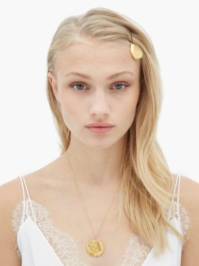 ALIGHIERI The Glimmering Tear 24kt gold-plated hair slide