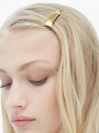 ALIGHIERI The Moonlit Gaze 24kt gold-plated hair slide | luxe slides