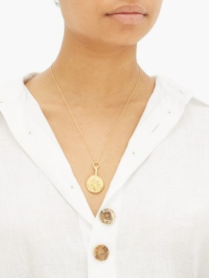 ALIGHIERI The Wandering Muse 24kt gold-plated necklace ~ luxe style jewellery - flipped