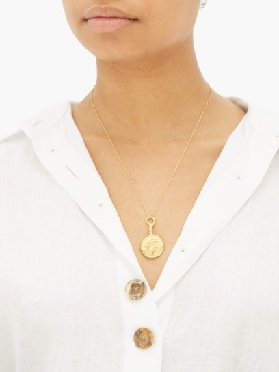 ALIGHIERI The Wandering Muse 24kt gold-plated necklace ~ luxe style jewellery