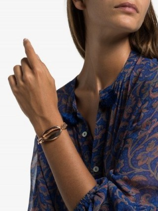 Tohum 24K Rose Gold-Plated Mega Conch Bracelet / shell jewellery - flipped