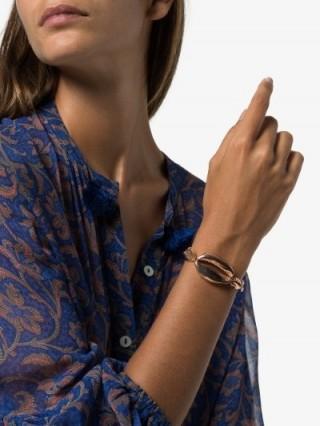 Tohum 24K Rose Gold-Plated Mega Conch Bracelet / shell jewellery