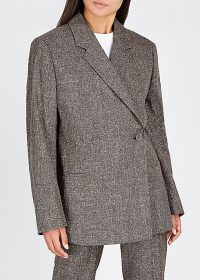 TOTÊME Loreo brown cotton-blend blazer ~ contemporary clothing