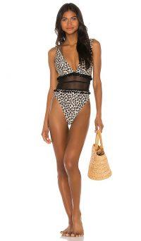 Tularosa Evia One Piece Leopard / animal print swimsuit