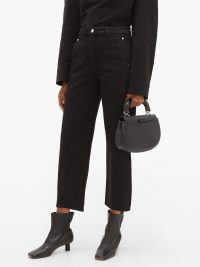 LEMAIRE Twisted cropped straight-leg jeans in black