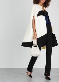 VALENTINO Monochrome wool-blend cape ~ style statement capes