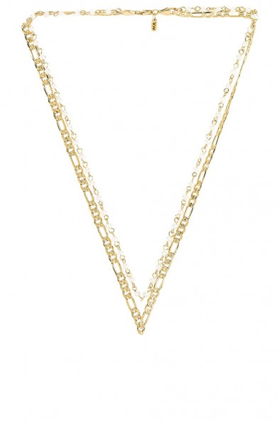 Vanessa Mooney The Rhapsody Chain & Pearl Necklace – double necklaces