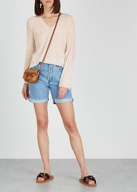 VINCE Blush wool and cashmere-blend jumper ~ casual luxe knitwear