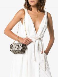 Wandler Zebra Print Mini Bag in White / monochrome animal stripes