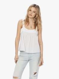 XiRENA Zoe Poplin Top in White