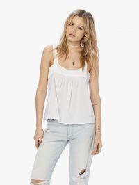 XiRENA Zoe Poplin Top in White