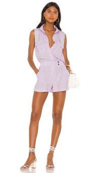 YFB CLOTHING X REVOLVE Christine Romper in Dark Lilac | sleeveless summer playsuit