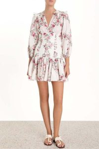 Zimmermann Honour Corset Printed Dress