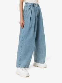 Acne Studios Wide Leg Denim Trousers   baggy jeans