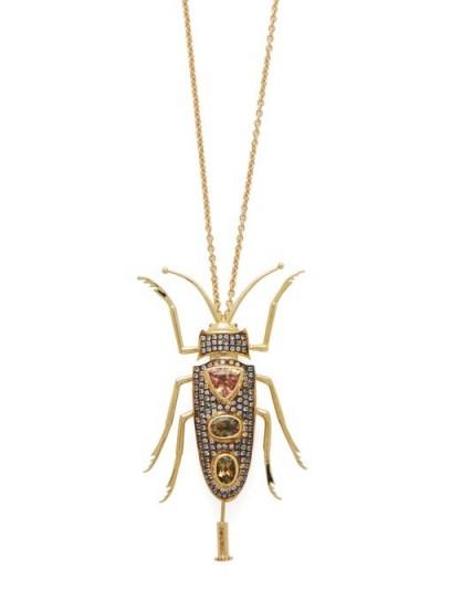 DANIELA VILLEGAS Aine 18kt gold, tourmaline & sapphire necklace | luxury pendant necklaces