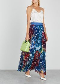 ALICE + OLIVIA Shannon tie-dye georgette skirt / multi-coloured maxi