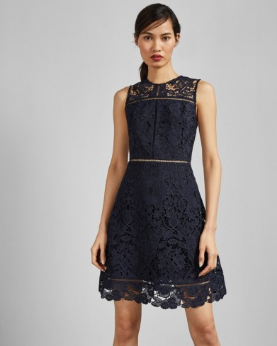 TED BAKER PRIMRSE A-line lace tunic dress