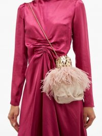 ROSANTICA BY MICHELA PANERO Aramis velvet cross-body bag | luxury pink crossbody