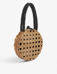 ARANAZ Roselle round bag in natural