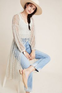 Maeve San-Michel Lace Duster | longline sheer coat