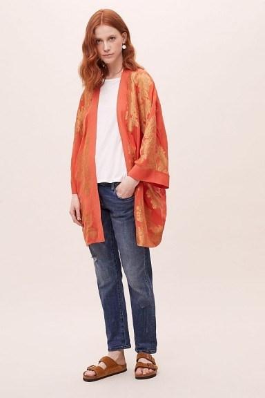 Seen Worn Kept Kaede Jacquard Kimono Orange - flipped